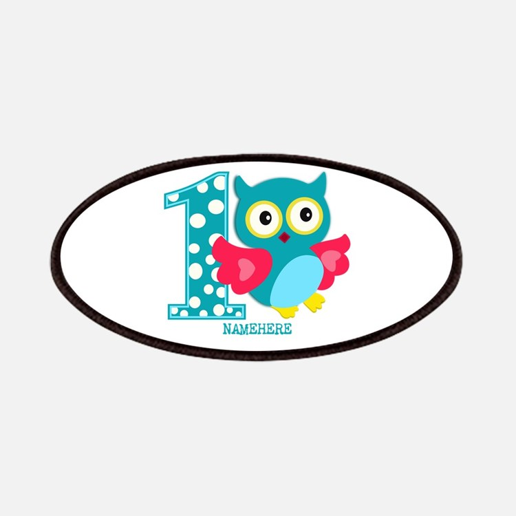 Cute First Birthday Owl Patches