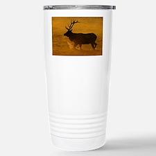 Bull Elk at Sunrise Travel Mug