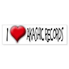 I Love (Heart) Akashic Record Bumper Bumper Sticker