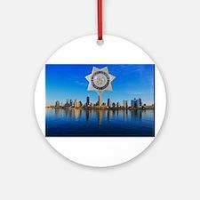 San Diego Sheriff Skyline Ornament (Round)