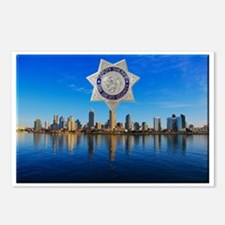 San Diego Sheriff Skyline Postcards (Package of 8)