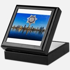 San Diego Sheriff Skyline Keepsake Box