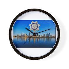 San Diego Sheriff Skyline Wall Clock