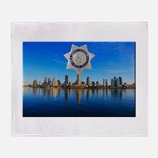 San Diego Sheriff Skyline Throw Blanket