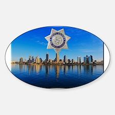 San Diego Sheriff Skyline Decal
