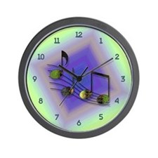 Dubstep Notes Wall Clock