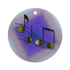 Dubstep Notes Ornament (Round)