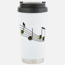 Dubstep Notes Stainless Steel Travel Mug