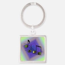 Dubstep Notes Square Keychain