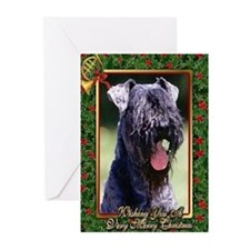 Kerry Blue Terrier Dog Christmas Greeting Cards (P