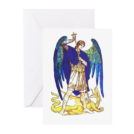 Saint Michael -5a- Greeting Cards (Pk of 10)