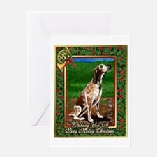Redtick Coonhound Dog Christmas Greeting Card