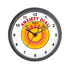 Anxiety Dial on High Wall Clock