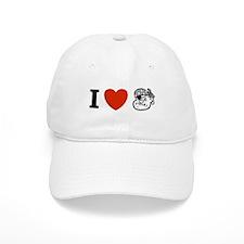 I Love Pirates Baseball Cap