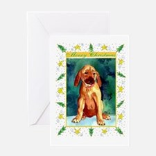 Rhodesian Ridgeback Dog Christmas Greeting Card