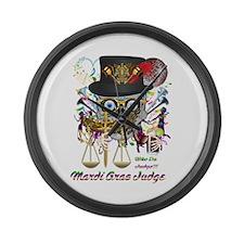 Mardi Gras Judge 1 Large Wall Clock