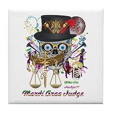 Mardi Gras Judge 1 Tile Coaster