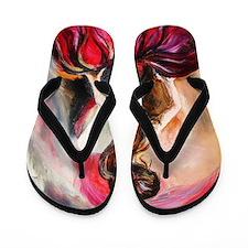 scarlet Flip Flops