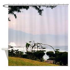 Hawaiian Sunset Tropical Shower Curtain (R)