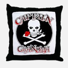 Captain Grandma Throw Pillow