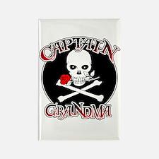 Captain Grandma Rectangle Magnet (100 pack)