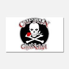 Captain Grandma Car Magnet 20 x 12