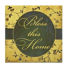 bless this home vintage Tile Coaster