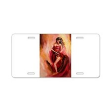 the red dress Aluminum License Plate