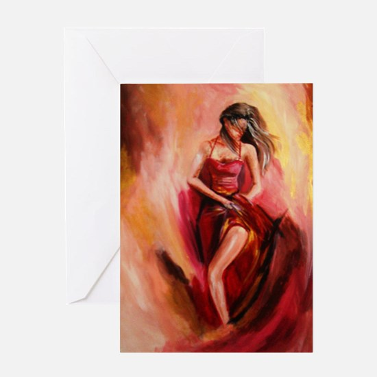 the red dress Greeting Card