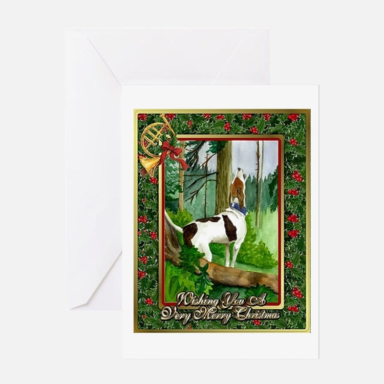 Treeing Walker Coonhound Dog Christmas Greeting Ca