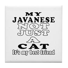 Javanese Cat Designs Tile Coaster