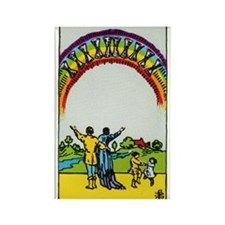 TEN OF CUPS Tarot Card Rectangle Magnet