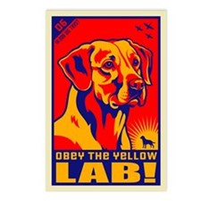 Obey the Yellow Lab! Postcards (8 pack)