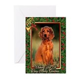 Irish setter christmas Greeting Cards (10 Pack)