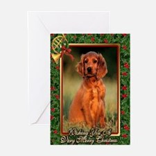 Irish Setter Dog Christmas Greeting Cards (Pk of 1