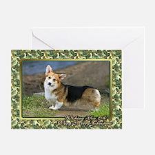 Welsh Corgi Cardigan Dog Christmas Greeting Card