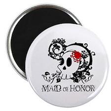 Skull Maid of Honor Magnet