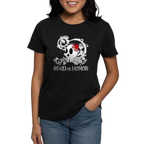 Skull Maid of Honor Women's Dark T-Shirt