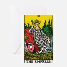 THE EMPRESS TAROT CARD Greeting Card