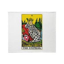 THE EMPRESS TAROT CARD Throw Blanket