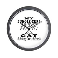 Jungle-curl Cat Designs Wall Clock
