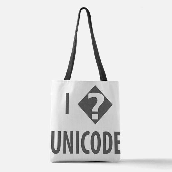 I Love Unicode Polyester Tote Bag