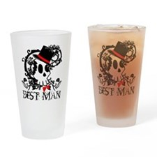Skull Best Man Drinking Glass