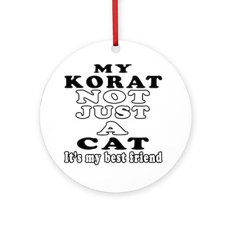 Korat Cat Designs Ornament (Round)