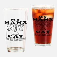 Manx Cat Designs Drinking Glass
