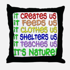 It's Nature Throw Pillow
