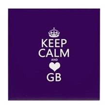 Keep Calm and Heart GB Tile Coaster