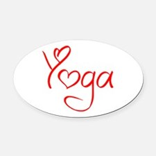 yoga-jel-red Oval Car Magnet