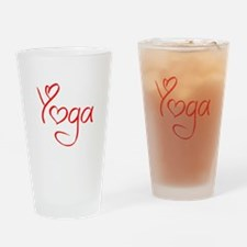 yoga-jel-red Drinking Glass