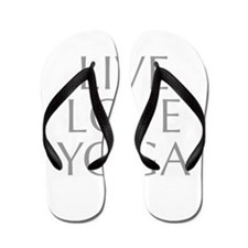 LIVE-LOVE-YOGA-opt-gray Flip Flops